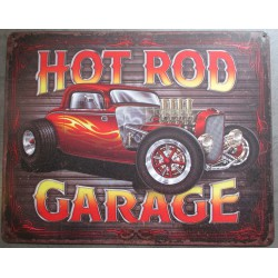 plaque hot rod  garage tole pub deco garage loft diner pub affiche tole