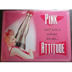 plaque pin up pin attidude tole sexy affiche metal stule rétro année 50 pub