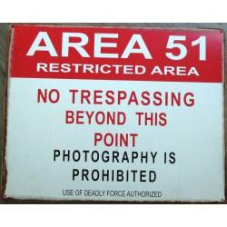 plaque zone 51 area ufo ovni deco bar   science fiction surnaturel