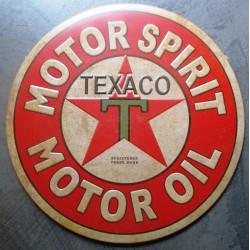 plaque texaco motor spirit rouge enboutil 30cm affiche tole pub usa deco loft