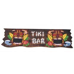 grande enseigne tiki bar en bois 98x27cm deco hawaii usa