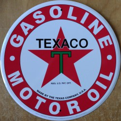plaque texaco motor oil  blanche 30cm tole deco pub garage tole usa