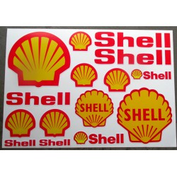 1 planche de stickers  shell huile essence decoration auto moto rallye
