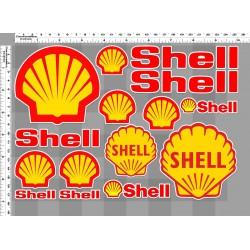 1 planche de stickers  shell huile essence decoration auto moto rallye