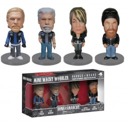lot de 4 figurines sons of anarchy  rare  8.5 cm wacky statuette funko