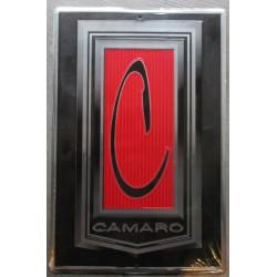 plaque chevrolet camaro  logo 45x30 tole rare déco garage  loft diner chevy