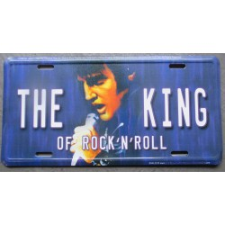 plaque d'immatriculation  elvis presley king rock roll tole deco maison fan