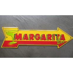 plaque flèche margarita cocktail tole déco metal affiche  bar diner loft