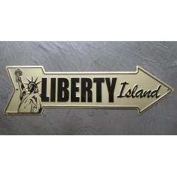 plaque flèche statue de la liberté liberty island tole déco metal affiche  bar diner loft
