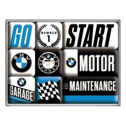 lot 9 magnet bmw maintenance start auto aimant frigo