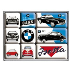 lot 9 magnet bmw voiture vintage cars 502 507 isetta auto aimant frigo