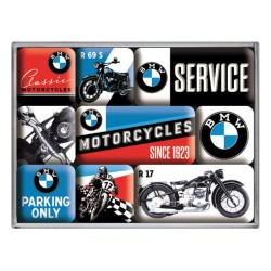 lot 9 magnet bmw moto service motorcycle  aimant frigo