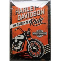 plaque Harley Davidson original ride 30cm  loft biker motard usa tole