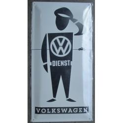 plaque vw man dienst volkswagen relief 50cm tole pub affiche