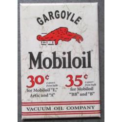 magnet 8x5.5 cm mobiloil  huile 30 centimes  deco garage cuisine bar diner loft frigo