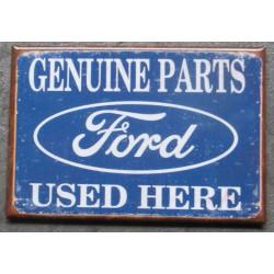 magnet 8x5.5 cm ford parts used here deco garage cuisine bar diner loft frigo