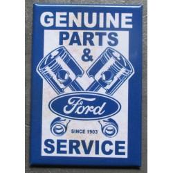 magnet 8x5.5 cm ford genuine part avec pistons croisés deco garage cuisine bar diner loft frigo