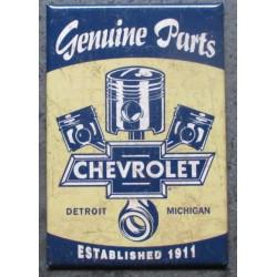 magnet 8x5.5 cm chevrolet genuine part 1911 pistons croisés deco garage cuisine bar diner loft frigo
