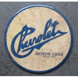 magnet 7.5 cm  chevrolet motor cars usa deco garage cuisine bar diner loft frigo