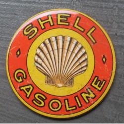 magnet 7.5 cm shell gasoline vieillit deco garage cuisine bar diner loft frigo