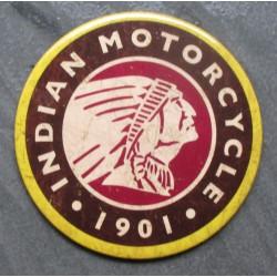 magnet 7.5 cm indian motorcycle logo indien deco garage cuisine bar diner loft frigo