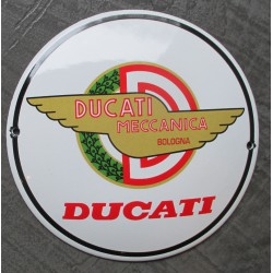 mini plaque emaillée ducati meccanica moto tole email deco garage