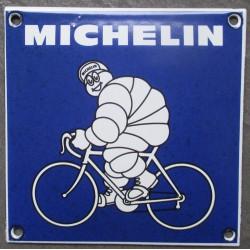 mini plaque emaillée michelin vélo bleu tole email deco garage