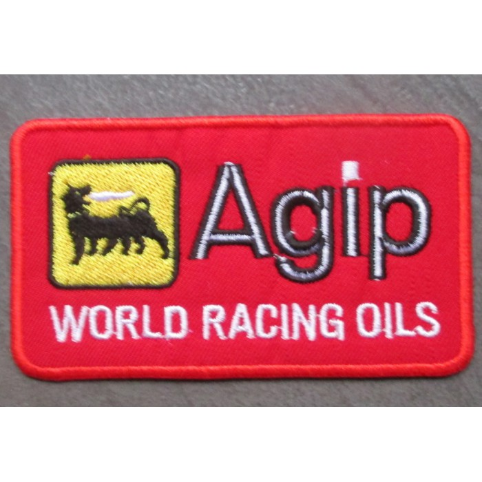 patch agip rouge world racing oilsecusson thermocollant