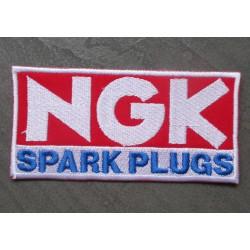 patch bougie NGK spark plug écusson thermocollant pour veste blouson