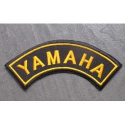 patch banderole yamaha noir et jaune écusson thermocollant pour veste blouson