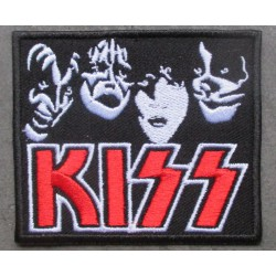 patch groupe hard rock kizz écusson  rectangulaire thermocollant pour veste blouson