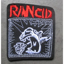 patch groupe hard rock rancid 8x7 cm  écusson  thermocollant  veste chemise