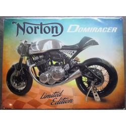plaque moto norton domiracer limited édition tole deco affiche métal