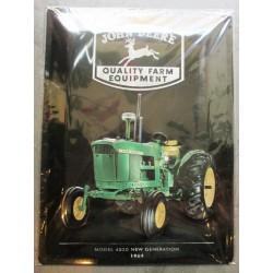 plaque john deere quality tracteur ferme relief 40cm tole pub affiche