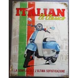 plaque italian scooter el classico tole pub métal déco garage