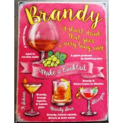 plaque cocktail à base de brandy deco bar diner cuisine café restaurant