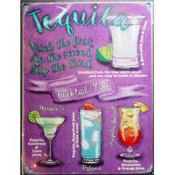 plaque cocktail à base de téquila deco bar diner cuisine café restaurant