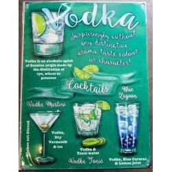 plaque cocktail à base de vodka deco bar diner cuisine café restaurant