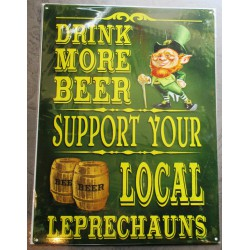 plaque irelande drink more beer biere deco bar diner cuisine café