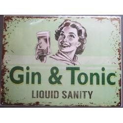 plaque gin tonic  verte deco bar diner cuisine café restaurant coktail