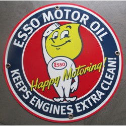 plaque alu esso goute happy motoring l tole metal garage huile pompe à essence