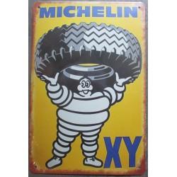 plaque tole michelin pneu XY vélo aspect vieillit 30x20cm tole pub garage  diner loft