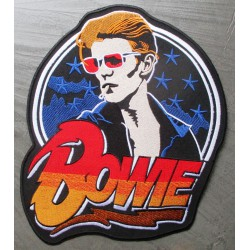 gros patch david bowie chanteur 26x20.5 cm écusson dos veste blouson
