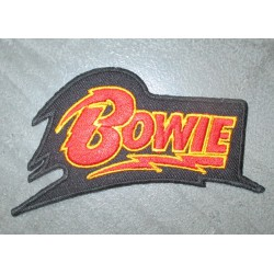 patch logo davis bowie 10.5cm ecusson  rock roll pop chanteur anglais