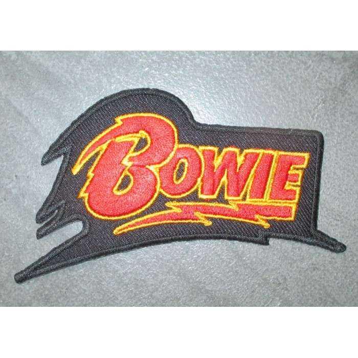 patch logo davis bowie 10.5cm ecusson  rock roll pop chanteur anglais