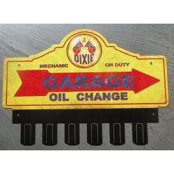 plaque tole  épaisse support de clé en métal dixie huile déco garage loft 38x31 cm