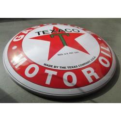 plaque bombée texaco huile essence 40 cm tole metal garage diner loft