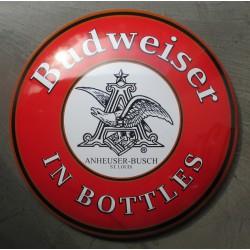 plaque bombée beer biere budweiser  40 cm tole metal garage diner loft