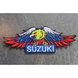 patch suzuki aigle 10x3.5 cm  écusson thermocollant garage veste chemise vetement