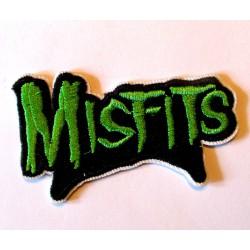 petit patch groupe misfits noir et vert  7.5x4.5 cm  écusson  thermocollant  veste chemise